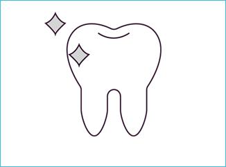 歯を自然な白さに